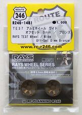 Kyosho Mini Z R246-1481 RAYS TE37 Aluminum Wheel Wide / Bronze (Offset 0mm)