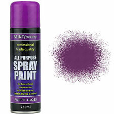 8 x All Purpose Purple Gloss Spray Cans 250ml Spray Paint Interior Exterior