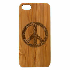 Peace Sign Case for iPhone 6 Bamboo Wood Cover Hippie Chic Symbol Retro Skin