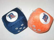 Detroit Tigers Team Logo Pair of Hanging Fuzzy Dice