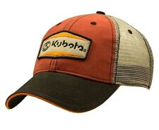 KUBOTA *RED BLACK & GREY TRUCKER MESH* LOGO TWILL HAT CAP *BRAND NEW!* KB16
