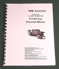 Yaesu FT-817ND Instruction Manual - Premium Card Stock Covers & 32lb Paper!