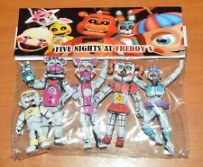 TOY MEXICAN FIGURES FUNTIME FIVE NIGHTS AT FREDDY'S ANIMATRONICS 4 inCHES