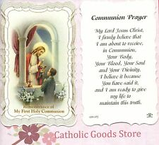 Remembrance of My 1st Holy Communion (boy) Scalloped trim - Paperstock Holy Card