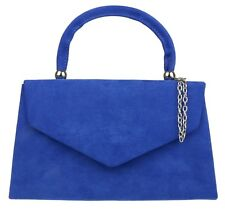 New Faux Suede Top Handle Clutch Bag Womens Handbag Evening Wedding Fashion Prom