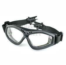 Dream Army Clear Glasses Goggles for FAST Helmet / Black (KHM Airsoft)