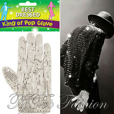 New Fancy Dress Michael Jackson Silver Sequin White Glove Billy Jean King Of Pop