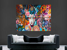 TRIPPY GEISHA WOMEN PYCHEDELIC IMAGE LARGE  WALL PICTURE POSTER GIANT HUGE ART
