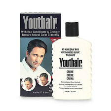 Youthair Hair Color and  Conditioner For Men, Creme 8oz