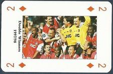 PLAYING CARD-ARSENAL-DOUBLE WINNERS 1997/98-#2D-TEAM PHOTO-CELEBRATING