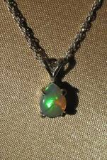 Cute Bright Little Welo Opal 925 Silver Pendant Necklace by Stunning Stones