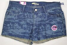 Old Navy Women's The Diva Denim Blue Jean Palm Tree Cut-Off Shorts size 4