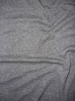 Grey Soft Fine Rib Cotton Lycra Jersey Knit Fabric RB45 GR