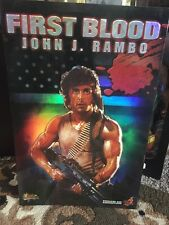 "Hot Toys First Blood John J. Rambo MMS21 Action Figure Doll 1/6 Scale 12"" NEW"