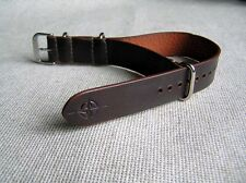 GENUINE LEATHER MILITARY WATCH BAND STRAP for LACO BOMBER PILOT AVIATOR 20 mm