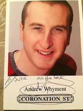 6x4 Hand Signed Photo Coronation Street Kirk - Andrew Whyment