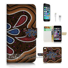 iPhone 7 (4.7') Flip Wallet Case Cover P2690 Aboriginal Dot Art