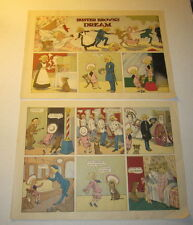 2 Large Old 1903 - BUSTER BROWN - DREAM - R.F. Outcault - COMIC PRINTS