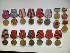 17 set lot Soviet Russian Army medal order award Badge WWII Lenin 9 May Labour