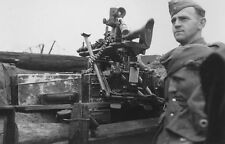 WWII B&W Photo German Soldiers MG34 Lafette Mount MG-34  WW2 / 2312  NEW
