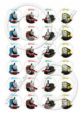 30  Personalised Thomas the tank CakeToppers 4cm premium sweetened rice paper
