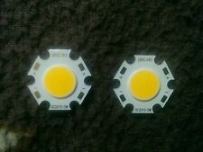 5 Watt | Warm-White | Round COB LED SMD Diode | 1 Set = 2 Pieces