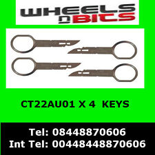 CT22AU01 Audi Double Din 2 Stereo Radio Removal Extraction Release Keys 4 keys