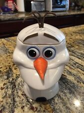 DISNEY On Ice Frozen OLAF Snowman Cup Mug With Hinge Lid - Not In Stores EUC