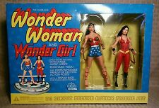 "2001 DC Direct Silver Age 6"" Wonder Woman & Girl Deluxe Set of 2"
