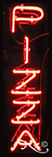 "BRAND NEW ""PIZZA"" 24x8x3 VERTICAL REAL NEON SIGN W/CUSTOM OPTIONS 12281"