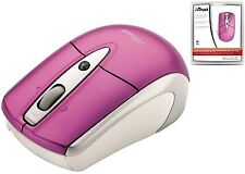 TRUST 15943 PINK MINI MOUSE WITH RETRACTABLE CABLE, FOR APPLE MAC/MACBOOK OR PC