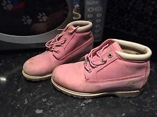Pink Ladies Timberland Boots Size 4 1/2