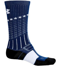 Under Armour UA Unrivaled Performance Fiber Crew Socks LARGE Wicking Anti-Odor