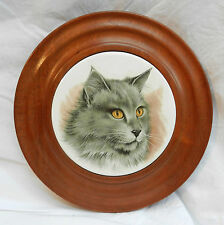 Cat Cheese Board / Wall Plaque - Wood and Ceramic - Lovely Piece