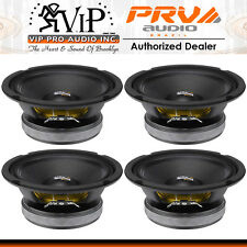 "PRV Audio 6MB200-4  6.5"" Mid Bass Woofer 4-Ohm 100W Mid-Range Car Speaker (FOUR)"