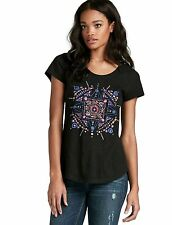 Lucky Brand - Womens S - NWT - Embellished Mandala Dots 100% Cotton Graphic Tee
