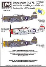 LPS Decals 1/72 REPUBLIC P-47D THUNDERBOLT with Malcolm Hood