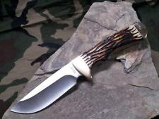 """Schrade Uncle Henry Elk Hunter Knife 8 3/8"""" Fixed Full Tang Delrin Stag 182UH"""