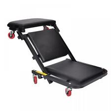 "40""Foldable Z Creeper Seat Black Maintenance Shop Car Garage Padded Bed C40"