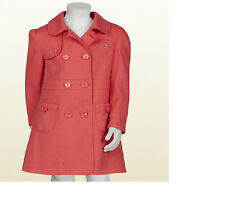 GIRLS GUCCI  PINK PIQUET TRENCH COAT JACKET Blazer Kids SZ 4 3 $690 Gift