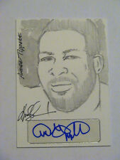 2012 Leaf Hand Drawn Sketch Card Andre Tippett New England Patriots Auto 1/1