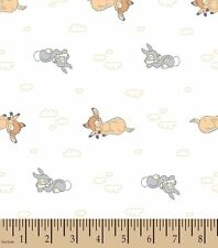 Bambi Sweet Dreams Flannel Nursery Fabric ~ by the YARD