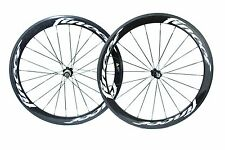 Fincci TM Carbon Bike Bicycle Wheels Wheelset Basalt 700c Racing 52mm Clincher