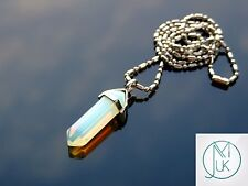 Opalite Crystal Point Pendant Manmade Gemstone Necklace Healing Stone Chakra