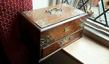 Nice old wood and brass smokers box cabinet