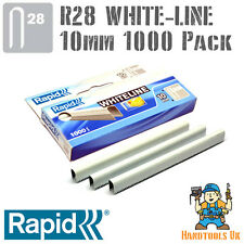 Cable De Grapas-Rapid R28 whiteline 10mm (Blanco Revestido) práctico 1000 Pack