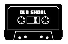 Old Skool Cassette stereo car/van/window sticker/decal