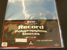 "20 loose Vinyl / Record Storage Sleeves 12"" LP Album Plastic Covers"
