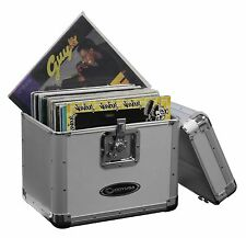 Odyssey KROM Transport Case for 70, 12 Inch Vinyl Records, Silver | KLP1-SILVER