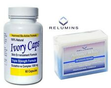 IvoryCaps Glutathione Pills + Relumins Whitening Soap with Intensive skin repair
